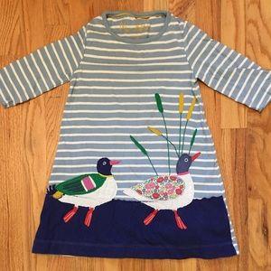 Mini Boden 4/5 duck appliqué dress